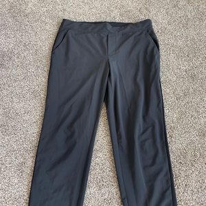 Athlete black structured pant